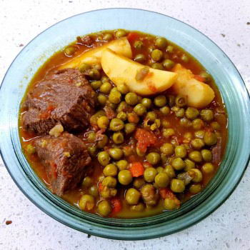 Peas with beef